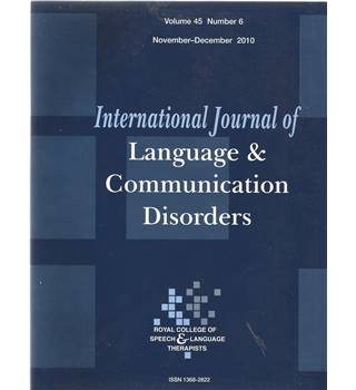 International Journal of Language & Communication Difficulties Vol 45 No.6