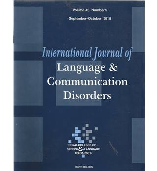International Journal of Language & Communication Difficulties Vol 45 No.5