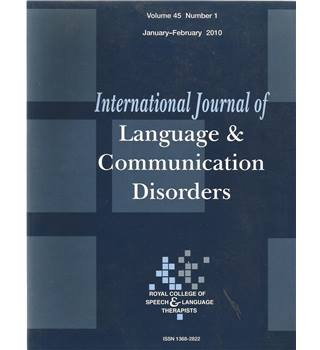 International Journal of Language & Communication Difficulties Vol 45 No.1