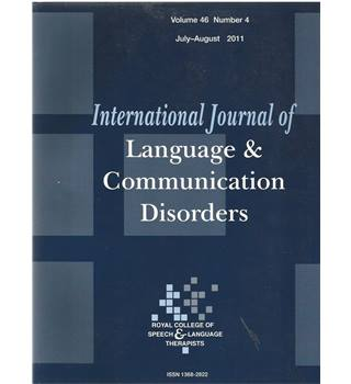 International Journal of Language & Communication Difficulties Vol 46 No.4