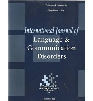 International Journal of Language & Communication Difficulties Vol 46 No.3