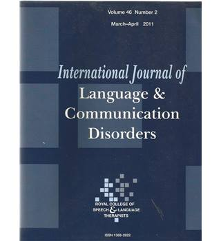 International Journal of Language & Communication Difficulties Vol 46 No.2