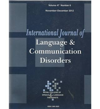 International Journal of Language & Communication Difficulties Vol 47 No.6