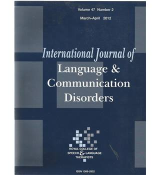 International Journal of Language & Communication Difficulties Vol 49 No.27