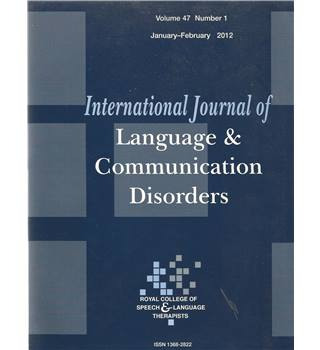 International Journal of Language & Communication Difficulties Vol 47 No.1