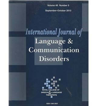 International Journal of Language & Communication Difficulties Vol 48 No.5