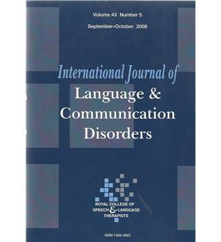 International Journal of Language & Communication Difficulties Vol 43 No.5