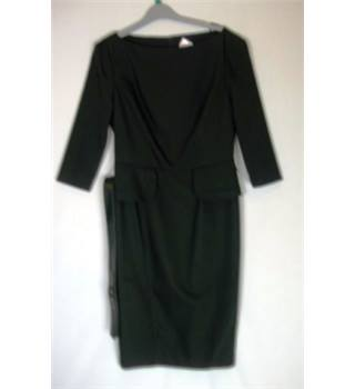 Gok Wan for Tu Size 12 Black Peplum Dress