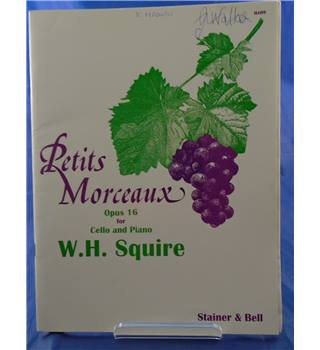 Sheet Music & Song Books Squire Petits Morceaux Op16 Cello Special Buy Musical Instruments & Gear