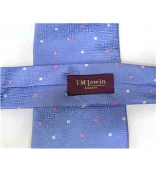 TM Lewin Lilac Spotted Luxury Silk Tie