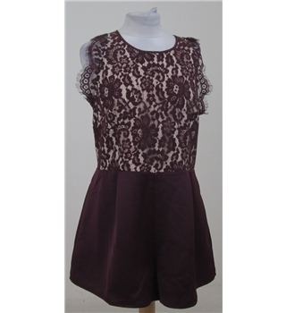 BNWT Keepsake The Label size: XL purple lace playsuit