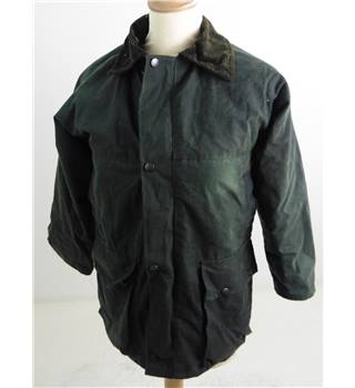 "Country Leisure Wear Size:  XXSmall, 29"", reg length Forest Green Casual/Country Treated Cotton Polyester Filled Jacket"