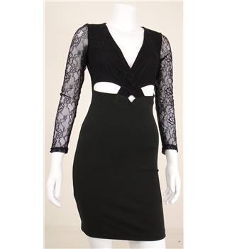 BNWT Hearts & Bows Size 8 Black Dress With Lace And Cut Out Detail