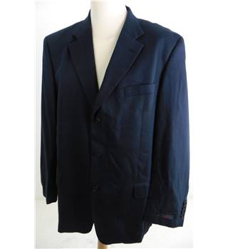 "Ted Baker Size Large, 44"" Chest, Regular Fit  Navy Cotton & Hemp Mix Single Breasted Jacket."