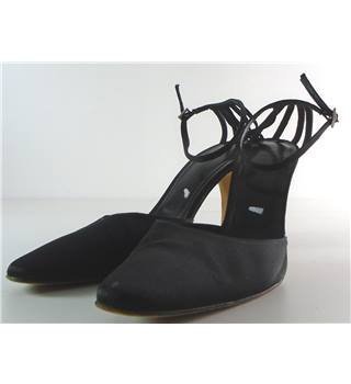 L.K. Bennett Size 7 Black Ankle Strap Court Shoes