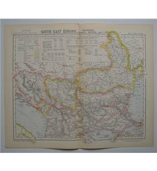 Letts's Map 1882  -  South East Europe - Roumania, Turkey, Servia