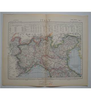 Letts's Map 1882  -  Italy (North)