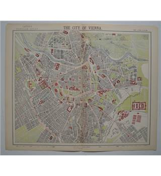 Letts's Map 1882  -  The City of Vienna