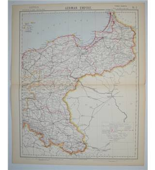 Letts's Map 1882  -  German Empire (NE)