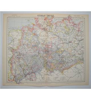 Letts's Map 1882  -  German Empire (NW)