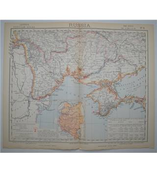 Letts's Map 1882  -  Russia (South)
