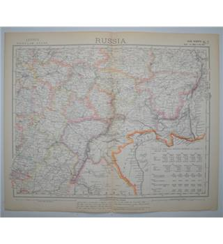 Letts's Map 1882  -  Russia (South West)