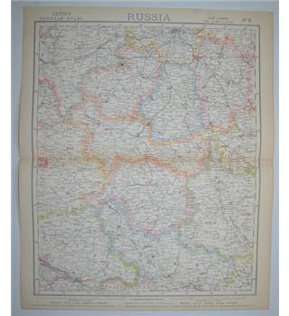 Letts's Map 1882  -  Russia (Central)
