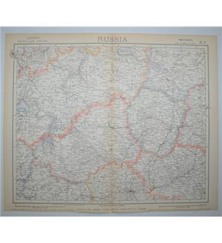 Letts's Map 1882  -  Russia (Central West)