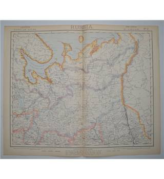 Letts's Map 1882  -  Russia (Central North)