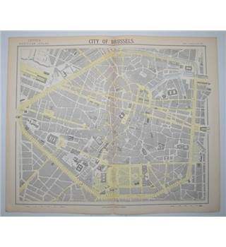 Letts's Map 1882  -  City of Brussels