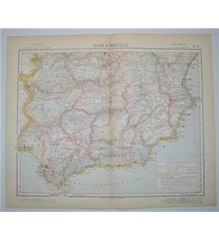 Letts's Map 1882  -  Spain & Portugal (South)