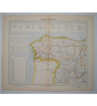 Letts's Map 1882  -  Spain & Portugal (NW)