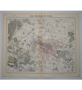 Letts's Map 1882  -  The Environs of Paris