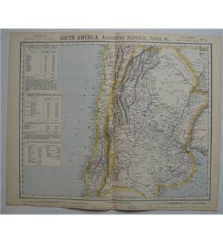 Letts's Map 1883  - South America, Argentine Republic, Chile, &c