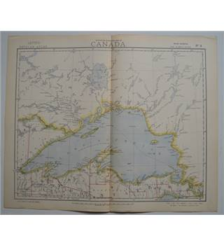 Letts's Map 1881  - Canada (Lake Superior)