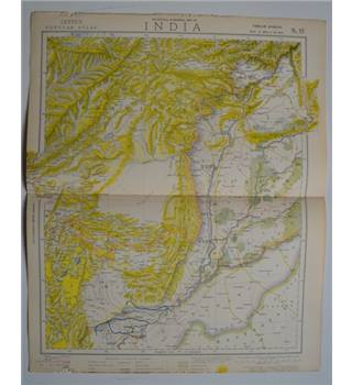 Letts's Map 1881  - India (Afghanistan, Beluchistan)