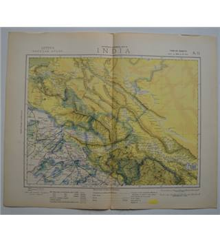 Letts's Map 1881  - India (North and North Pakistan, Kashmir)