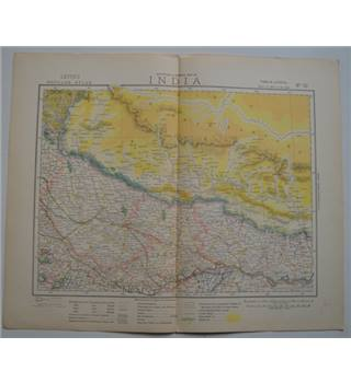 Letts's Map 1881  - India (North India, Nepal, Southern China)