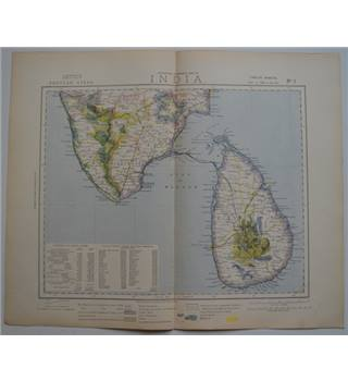 Letts's Map 1881  -  India (South with Ceylon)