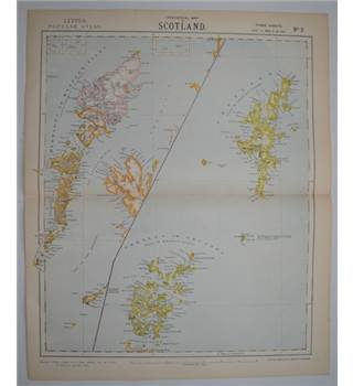 Letts's Map 1881  - Scotland (Hebrides of Western Isles, Orkney and Shetland)