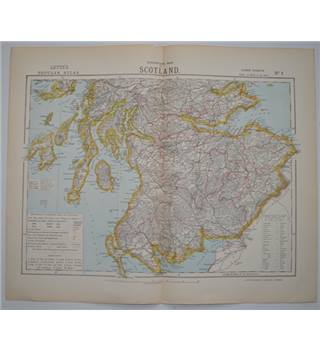 Letts's Map 1881  - Scotland (South)