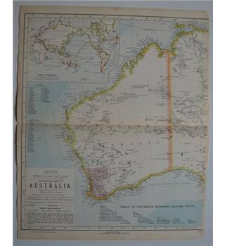 Letts's Map 1881  - Australia (West)