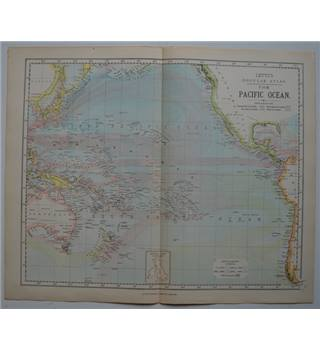 Letts's Map 1881  - The Pacific Ocean