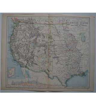 Letts's Map 1881  - United States of North America and Part of Canada - Western Sheet