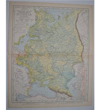 Letts's Map 1881  - Russia in Europe