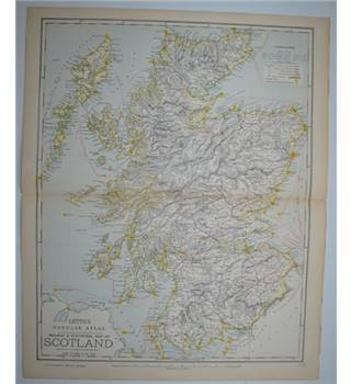 Letts's Map 1881  - Railway & Statistical Map of Scotland