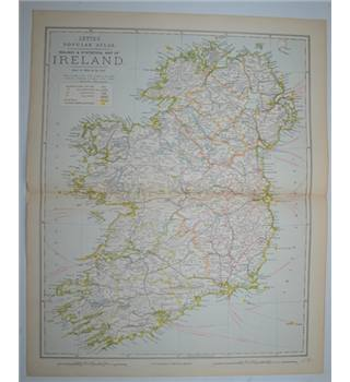 Letts's Map 1881  - Railway & Statistical Map of Ireland