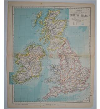 Letts's Map 1881  - British Isles