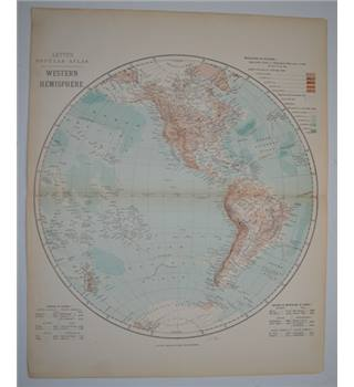 Letts's Map 1881  - Western Hemisphere (Circular map)