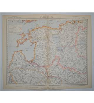 Letts's Map 1882  - Russia (NW)